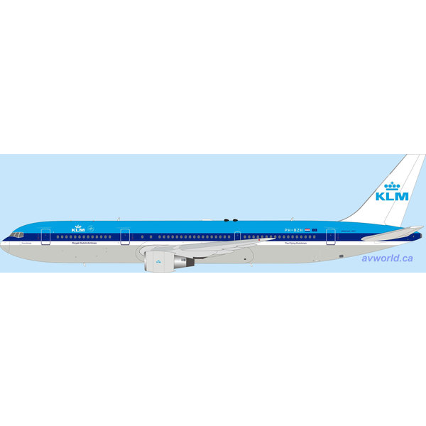 InFlight B767-300ER KLM PH-BZH 1:200 with stand