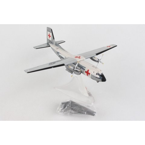 C160 Transall Balair International Red Cross 1:200 with stand