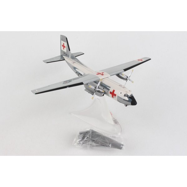 Herpa C160 Transall Balair International Red Cross 1:200 with stand
