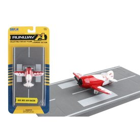 Runway 24 Gee Bee Racer Red/White with runway section