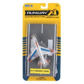 Runway 24 A7 Corsair II USAF Silver / Blue