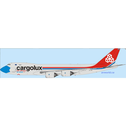 B747-8F Cargolux Not Without My Mask LX-VCF 1:400 (Interactive) +Preorder+