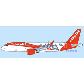 JC Wings A320S Easyjet Europe Austria OE-IVA 1:400