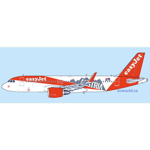 A320S Easyjet Europe Austria OE-IVA 1:400 +preorder+