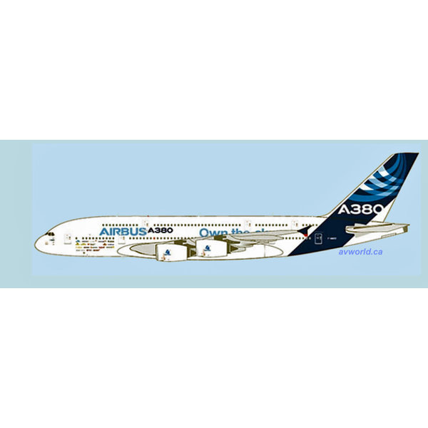 JC Wings A380-800 Airbus House livery Own the Sky F-WWDD 1:400