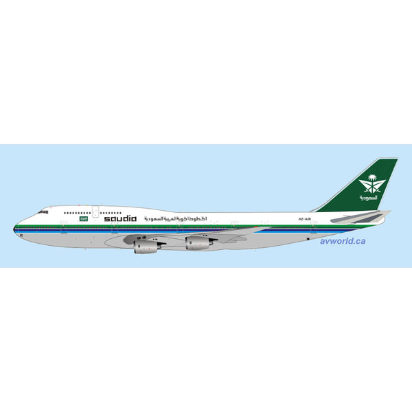 InFlight B747-300 Saudia HZ-AIR 1:200 with stand
