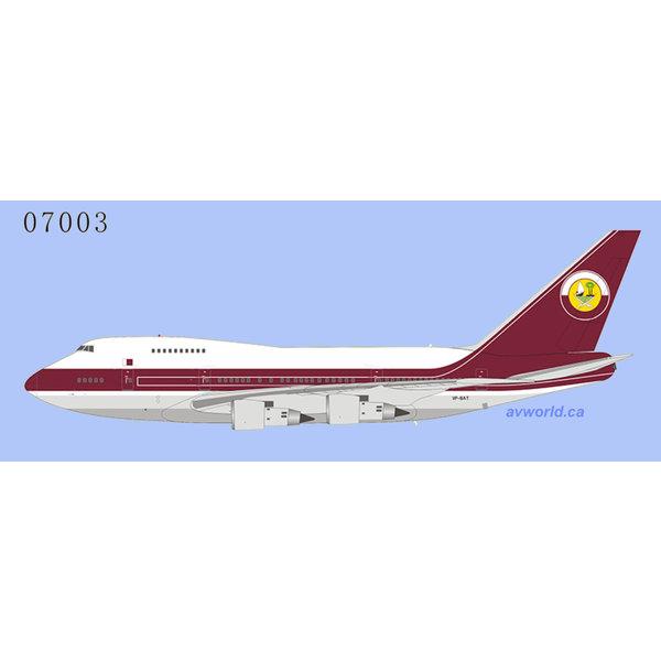 NG Models B747SP Qatar Amiri Flight VP-BAT 1:400