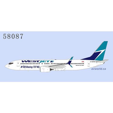B737-800S WestJet #100 Boeing 737NG C-GAWS scimitars 1:400