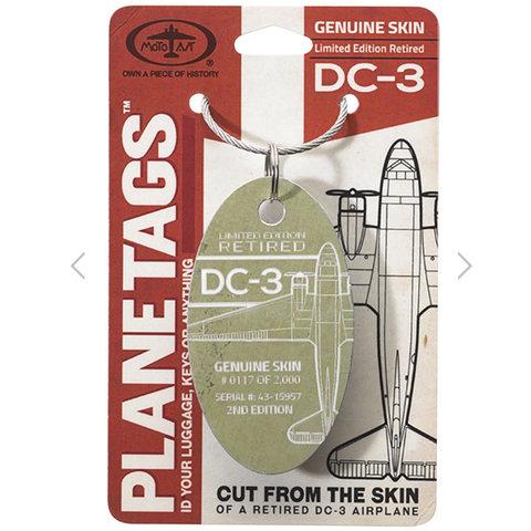 Douglas DC-3 PlaneTag  Serial # 43-15957
