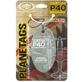 PlaneTags Curtiss P40 Aircraft Skin Key Chain