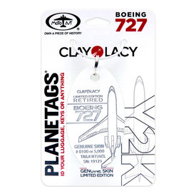 """PlaneTags Clay Lacy Boeing 727 Y2K """"Midway 2000"""" Tail # N724CL"""