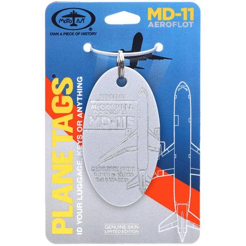 MCDONNELL DOUGLAS AEROFLOT MD11F - PLANETAG TAIL #VP-BDR - SILVER