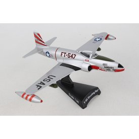Postage Stamp Models F80 Shooting Star USAF FT-547 Miss Barbara Ann 1:80 with stand