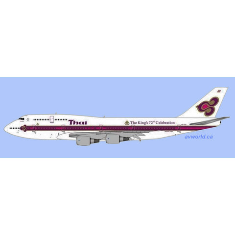 B747-300 Thai Airways o/c Kings Logo HS-TGD 1:400