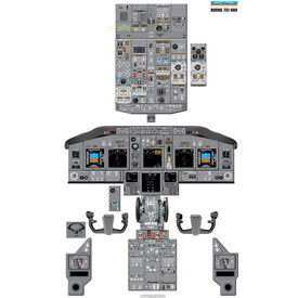 Aviation Training Graphics Laminated Cockpit Training Poster B737-800