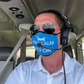 Face Mask Keep Calm and Fly On