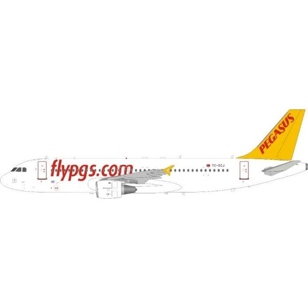 JFOX A320 Pegasus Airlines TC-DCJ 1:200 with stand