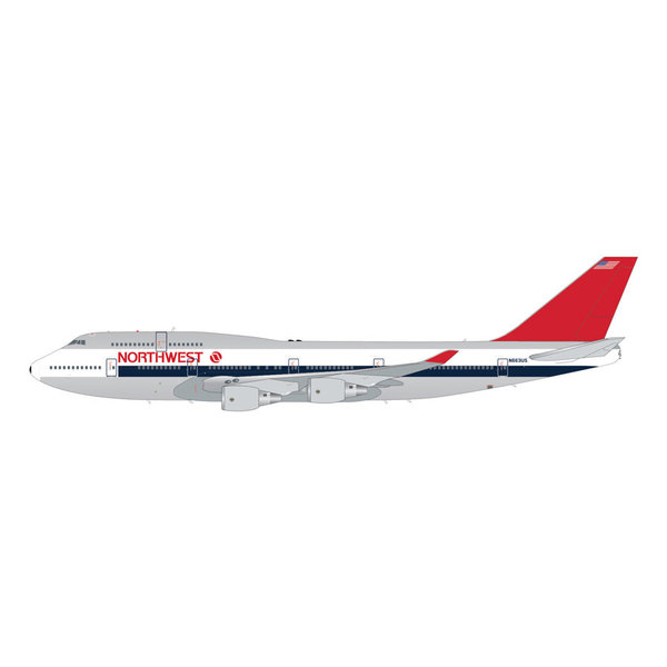 Gemini Jets B747-400 Northwest 1980s livery N663US 1:200 polished +preorder+