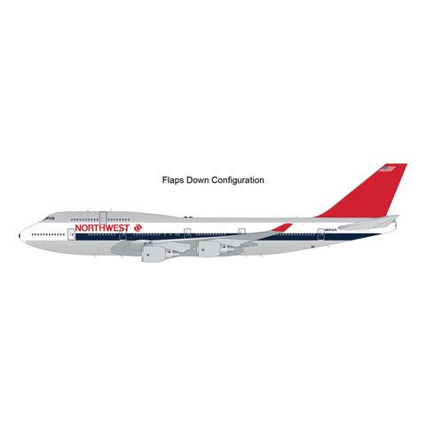 B747-400 Northwest 1980s livery N663US 1:200 flaps