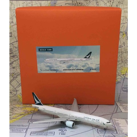 B777-300ER Cathay Pacific New c/s B-KPP 1:400 flaps down