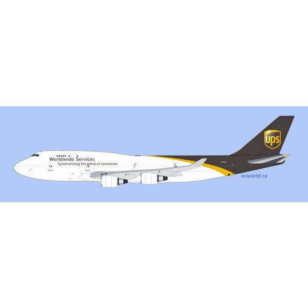 InFlight B747-400 UPS United Parcel Service N578UP 1:200