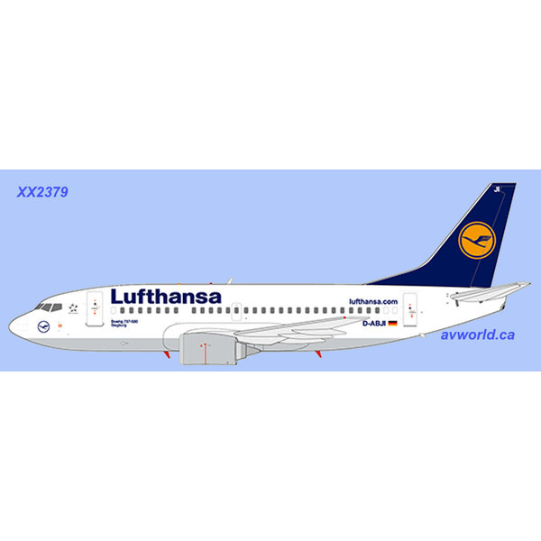 JC Wings B737-500 Lufthansa D-ABJI 1:200 with stand
