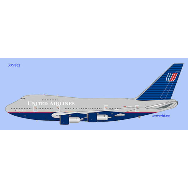 JC Wings B747SP United Battleship Grey livery N145UA 1:400