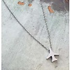 Airplane Necklace - Stainless Steel