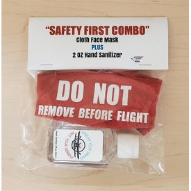 Do Not Remove Before Flight Mask & Hand Santizer Combo