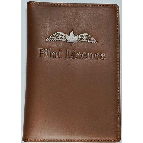Avworld's own Pilot Licence Wallet Brown Leather