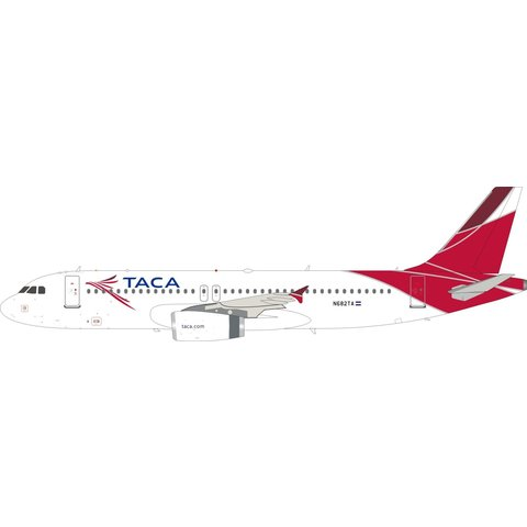 A320 TACA 2008 final livery N682TA 1:200 with stand
