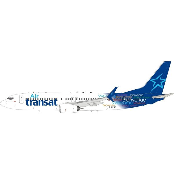 InFlight B737-800S Air Transat Welcome c/s C-GTQF 1:200