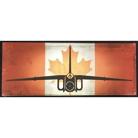 Avro CF105 Arrow Canadian Flag Metal Sign