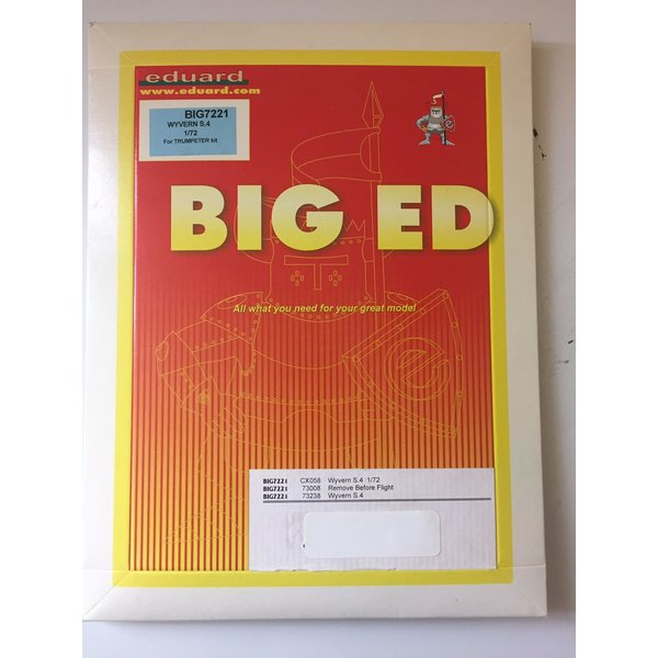 Eduard BIGED WYVERN S4 Etch/Mask set 1:72*Discontinued*