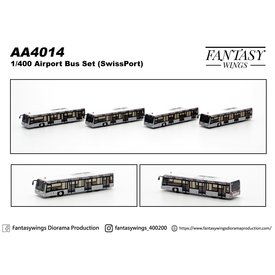 JC Wings Airport Bus swissport 1:400 (4 pieces per box) +Preorder+
