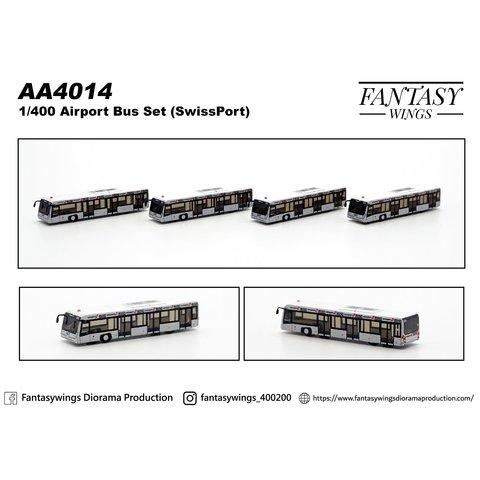Airport Bus swissport 1:400 (4 pieces per box)