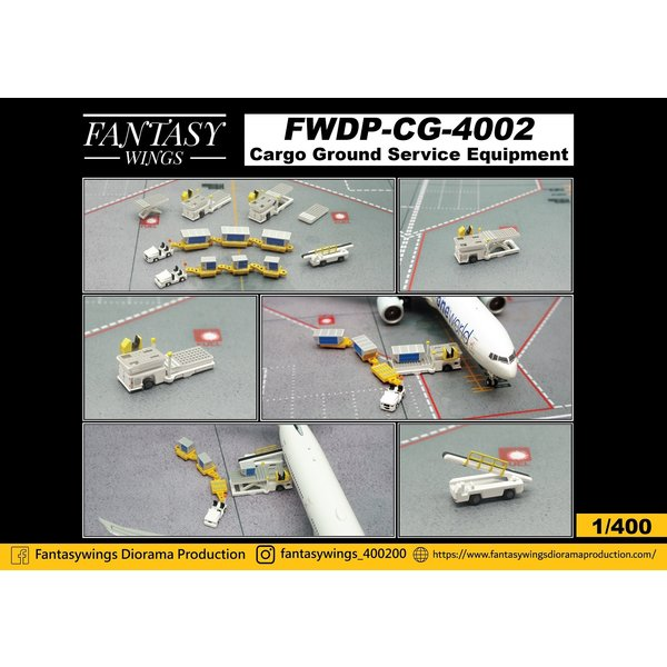 JC Wings Cargo GSE Ground Support Equipment 1:400 +Preorder+