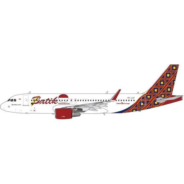 Phoenix A320S Batik Air PK-LUT 1:400 scimitar winglets