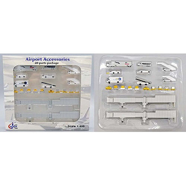 JC Wings Airport Accessories 1:400  (20 pieces pre package) +Preorder+