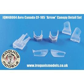 Iroquois CF-105 Avro Arrow open canopy set 1:48 for Hobbycraft kit HC1659 only