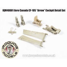 Iroquois CF-105 Avro Arrow cockpit set 1:48 for Hobbycraft kit HC1659 only