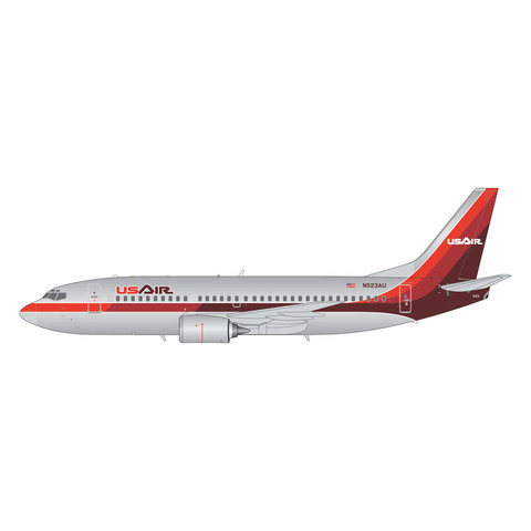 B737-300 US Air 1980s livery 1:200 polished +Preorder+
