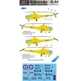 LF Decals Sikorsky R-5/S-51 over Canada 1:48