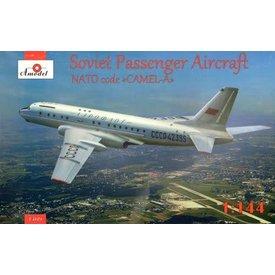 AMODEL Tu-104A Aeroflot CCCP-42395 Nato Code Camel A 1:144