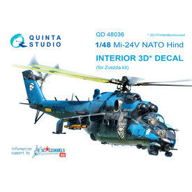 Quinta Mil Mi-24V NATO (black panels) 1:48 for Zvezda