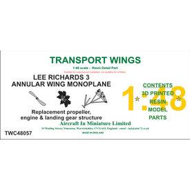 AIM-Transport Wings Lee-Richards Annular Monoplane Detail parts set 1:48