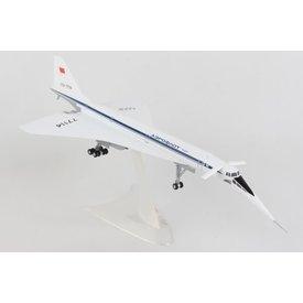 Herpa TU144D Aeroflot CCCP-77114 1:200 with gear+stand