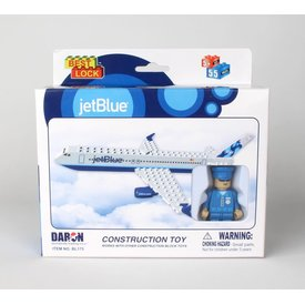 Daron WWT A320 JetBlue bubbles construction toy (55 pieces)
