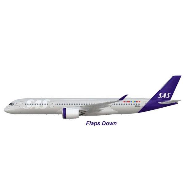 JC Wings A350-900 SAS Scandinavian New c/s SE-RSA 1:200 flaps down