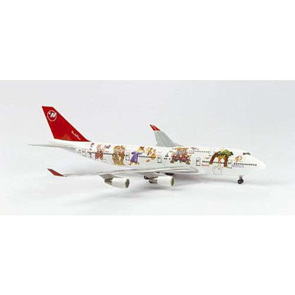 Herpa B747-400 Northwest Worldplane 1:200 *Discontinued*